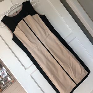 Ann Tylor Color Block Dress, wedding guest dress